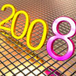 New year 2008. 3d. — Foto Stock