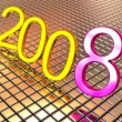 New year 2008. 3d. — Stock fotografie