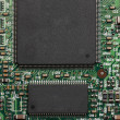Chips on the printed-circuit-board - Stock Photo