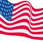 la bandera americana — Foto de Stock