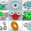 Collage from gears. icons. — Stock Photo