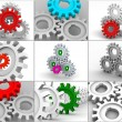 Stock Photo: Collage from gears. icons.