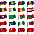 Collage from flags of the different countries of the world. icon — Stock Photo