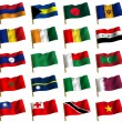 Collage from flags of the different countries of the world. icon - Stock Photo