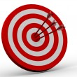 Royalty-Free Stock Photo: Row Red and White target