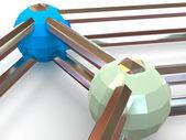 Three-dimensional graphic image — Stock Photo