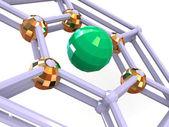 Three-dimensional graphic image. Sphere — Stock Photo