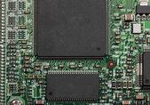 čipy na tištěné--desky — Stock fotografie