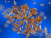Flocos de neve. — Fotografia Stock