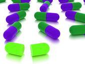 Pills on white background — Stock Photo