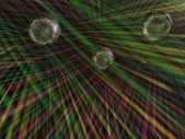 Sphère lumineuse dans une discothèque — Photo
