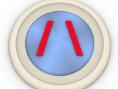 Zeichen oder ein symbol — Stockfoto