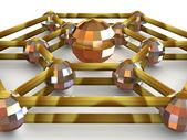 Three-dimensional graphic image. Sphere. — Stock Photo
