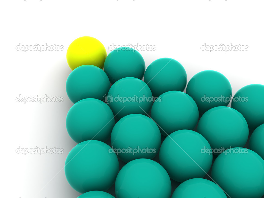Billiard balls. 3d  Stock Photo #7828882