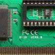 Chips on the printed-circuit-board — Stock Photo