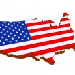 Map the USA — Stock Photo