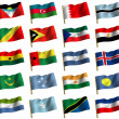 Collage from flags - Stock Photo