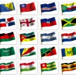Collage from flags of the different countries of the world. icon — Stock Photo #7832972