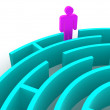 Three-dimensional graphic image. Labyrinth. — Stock Photo