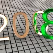 New year 2008. 3d. — Stock Photo