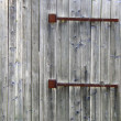 Old wooden gate. — Stock fotografie
