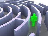 Labyrinth and man. — Stock Photo