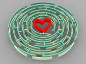 Labyrint en hart — Stockfoto