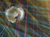 Luminous sphere in a disco — Stock Photo