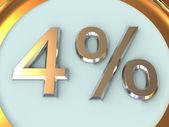Percent. — Stock Photo