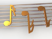 Musical notes. — Stock Photo