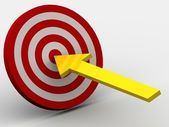 Target with arrow — Stock Photo