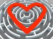 Labyrinth and heart — Stock Photo