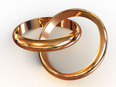 Wedding rings. — Stock Photo