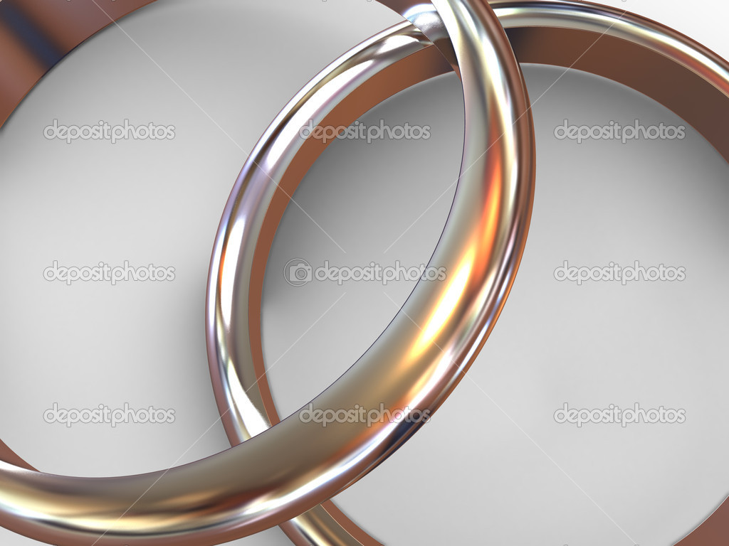Wedding rings. 3d  Stock Photo #7832009