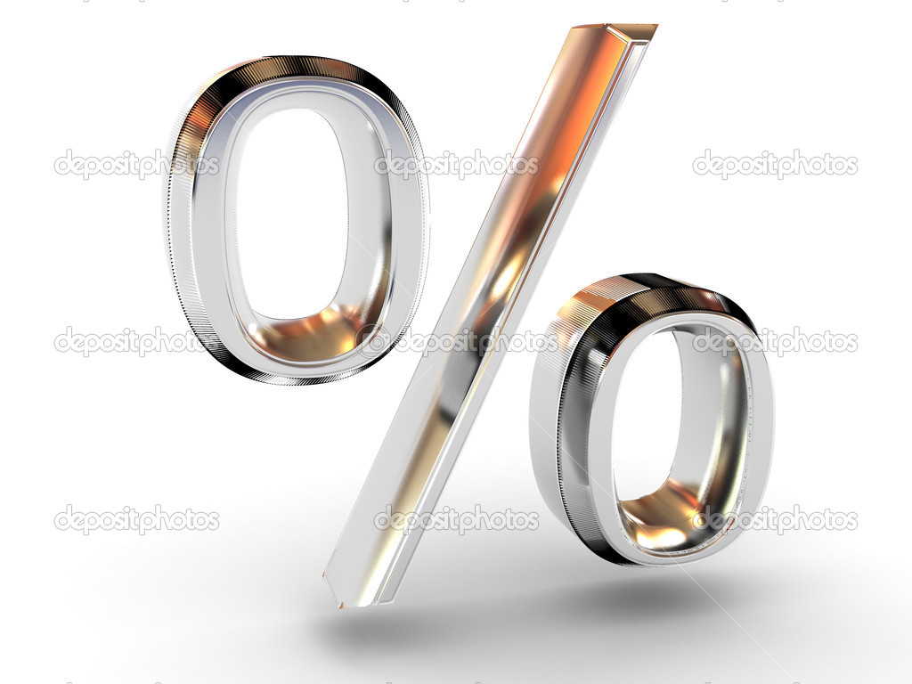 Percent 3d  Stock Photo #7832758