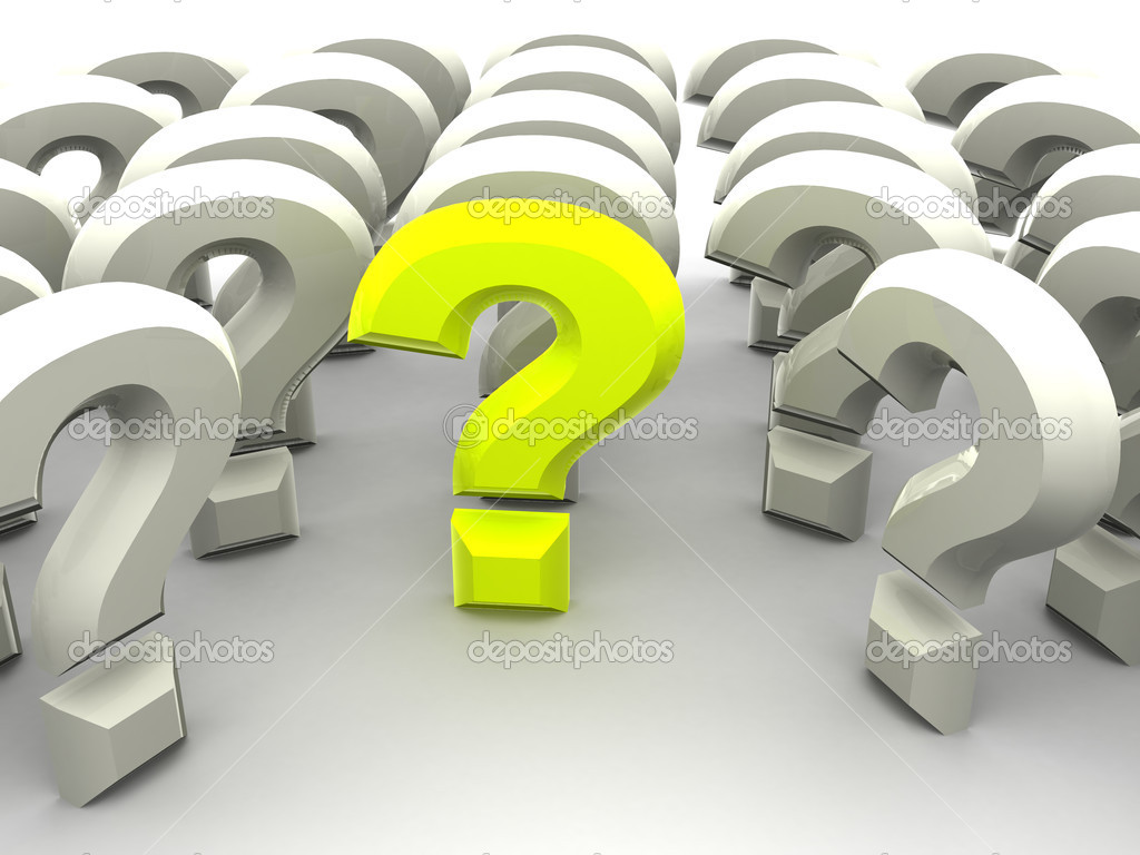 Question Sign. 3d — Stock Photo #7835692