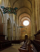 Interior of a church in monastery of Poblet, Spain — Stock fotografie