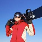 Female snowboarder — Stock Photo #7278143