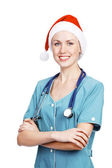 Cute christmas doctor — Stock Photo