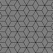 Seamless geometric pattern in op art design. — Vector de stock