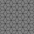 sem costura padrão geométrico em op art design — Vetorial Stock