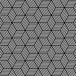 bezešvé geometrický vzor v op art design — Stock vektor