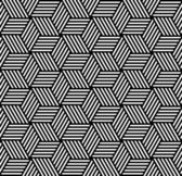 Naadloze geometrische patroon in op-art design. — Stockvector