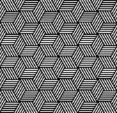 Seamless geometric pattern in op art design. — Stock Vector