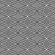 Hexagons texture. Seamless geometric pattern. — Stockvektor