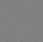 Hexagons texture. Seamless geometric pattern. — Stock Vector
