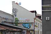 立陶宛首都维尔纽斯,立陶宛的一条街道上的涂鸦. — 图库照片