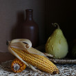 Still life with Indian corn. - Stock Photo