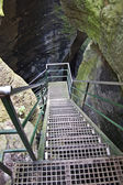 Stairs to the cave — Stock Photo
