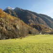 Autumn alpine pasture landscape — Stock Photo #7652706